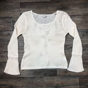 Ariat White Knit Sweater Women's Size Large M95